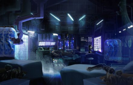 Cyberpunk Med Clinic by axl99