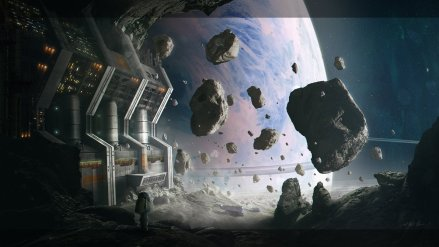 Asteroid Mining Facility by Gabriel-BS