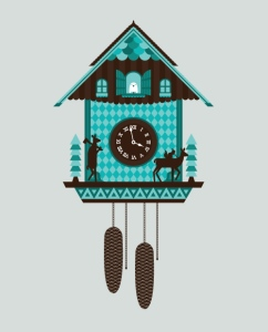 A cuckoo clock via korju on tumblr.